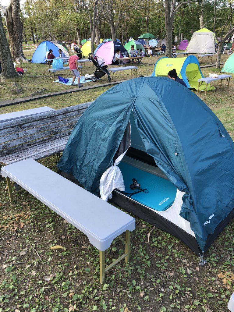 テントで快適な拠点をつくる